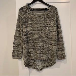 2/$15 - H&M Grey Marled String Back Sweater.